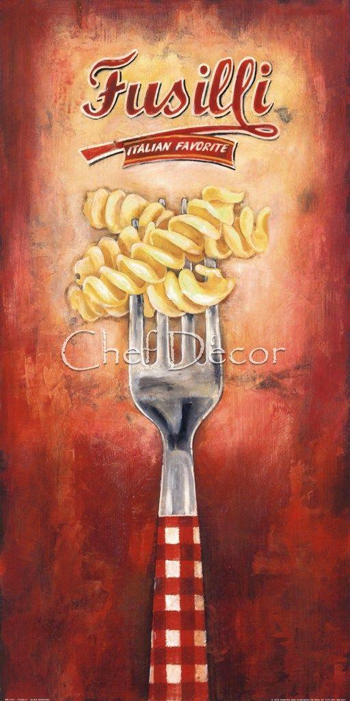 Fusilli Fine-Art Print by Elisa Raimodi at ChefDecor.com.