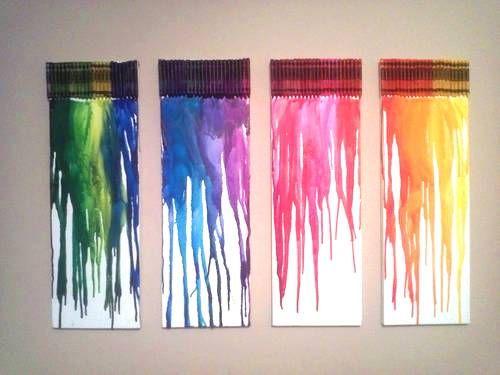 Lienzos con crayones 1