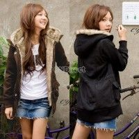 Super cozy faux fur, who cares if it's from last year? I don't! :) 2014 Hot Women's New Fashion Thicken Fleece Faux Fur Warm Winter Coat Hoodies Jacket