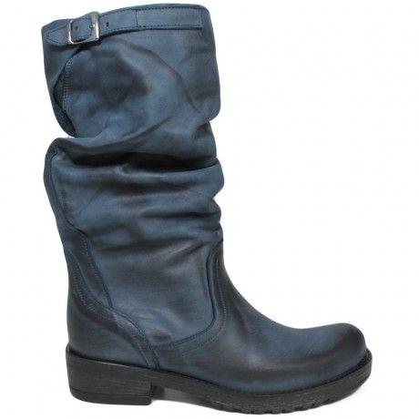 Stivali Biker Boots Metà Polpaccio 'BIK/M' - Blu