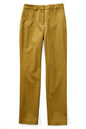 Lands' End Women's Petite Mid Rise Straight Leg Chino Pants-Washed Sage