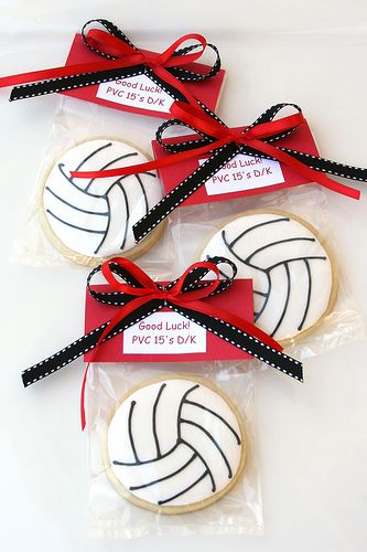 Wrapped Volleyball Cookies | by Glorious Treats