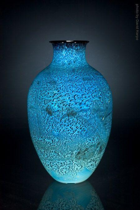 "Josh Simpson ""Mega Vase"" Item #40532 blown glass 10"" x 10"" x 19"" $2,000"