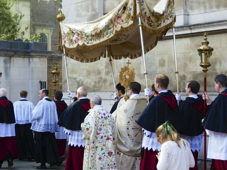 Image result for priest procession  under canopy