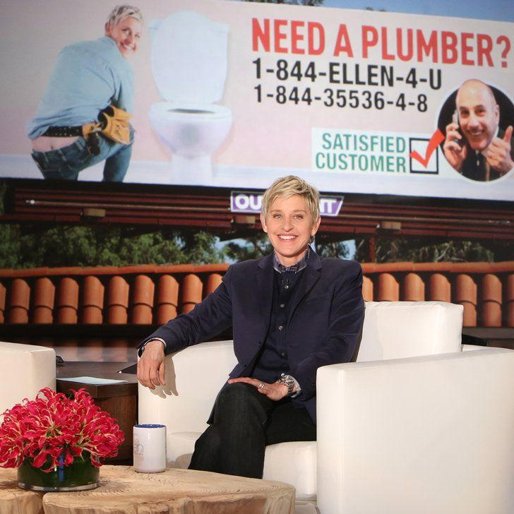 Pin for Later: Matt Lauer Set Up Billboards and Phone Lines to Advertise Ellen as a Plumber