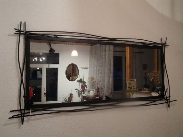 Les 26 meilleures images du tableau mes r alisations sur for Miroir fer forge