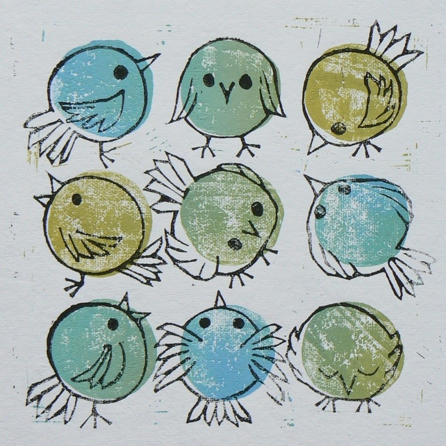 Doodlebirds - this just made me wonder what kids would come up with if you gave them a page with stamped circles and a sharpie and told them to doodle....