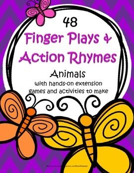 This is a collection of 48 favorite finger plays and action rhymes for early learners, each of them with an added activity to extend the learning and fun. The theme for this collection is Animals.  126 pages