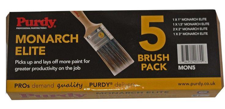 Purdy XL Elite Monarch 5 Piece Paint Brush Brushes Set 1x1 , 1x1.5 , 2x2 , 1x3