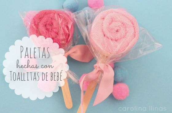 DIY: Paletas hechas con toallas de bebé | Blog de BabyCenter #babyshower @Carolina Llinas