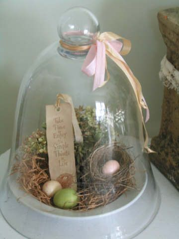 Cloche To My ❤️...Wayside Treasures: Spring Cloche ~