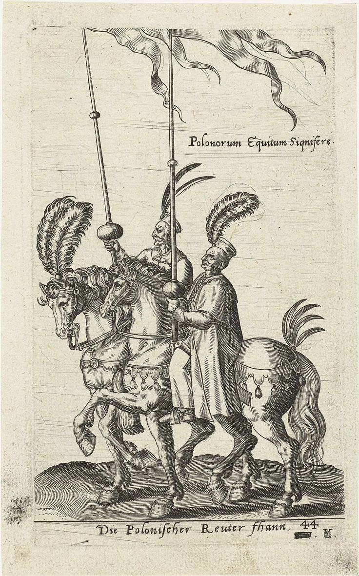 Twee Poolse vaandeldragers, attributed to Abraham de Bruyn, 1577