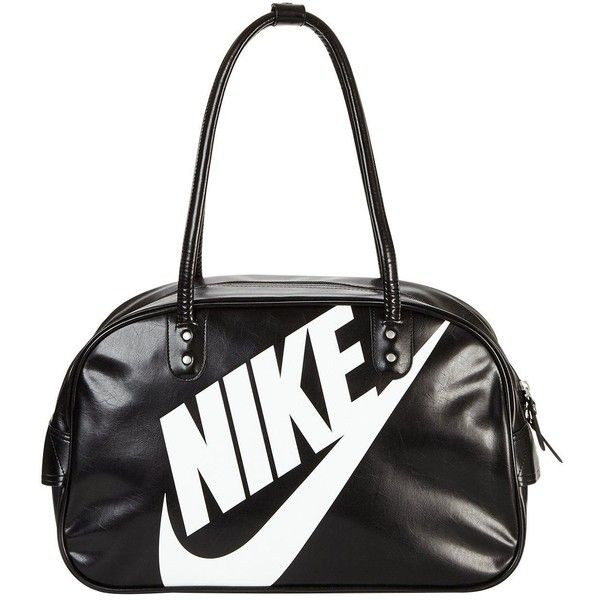 Nike Heritage Si Shoulder Club ($35) ❤ liked on Polyvore featuring bags, handbags, shoulder bags, shoulder handbags, white shoulder bag, white purse, shoulder bag purse and white handbags