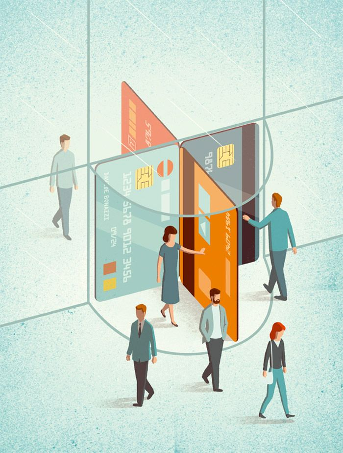 What a awesome idea to use a revolving door to illustrate 'how to manage your…