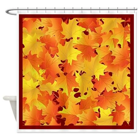 FALL LEAVES Shower Curtain