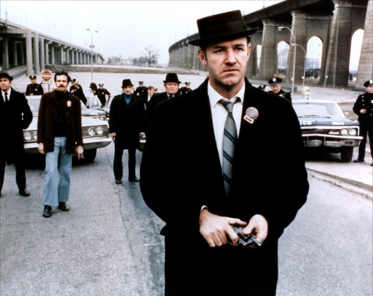 Gene Hackman ( ici dans French Connection). Un poids lourd d'hollywood d'un charisme remarquable !! Il peut tout jouer, je le compare un peu comme Mastroiani.