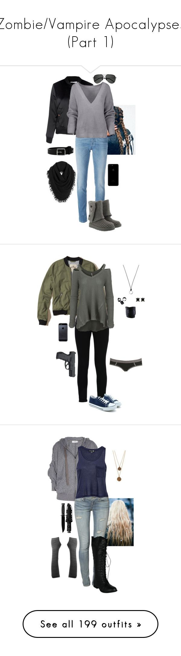 """Zombie/Vampire Apocalypses (Part 1)"" by gone-girl ❤ liked on Polyvore featuring Glamorous, Givenchy, UGG, Yves Saint Laurent, White + Warren, rag & bone, Hollister Co., STELLA McCARTNEY, Free People and Tavik"