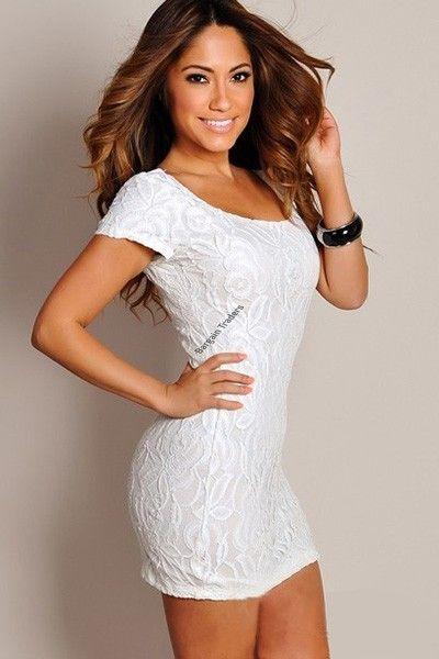 Clubwear Mini casual short sleeves lace dress