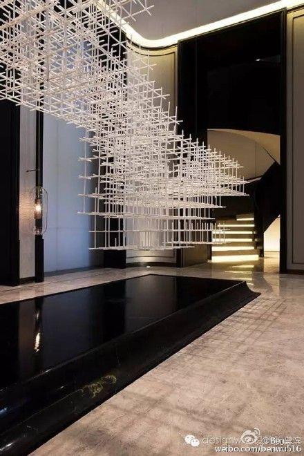 Urban modern decorating, elaborate modern lighting