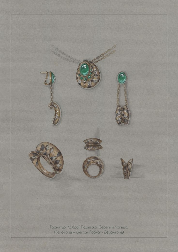 Jungle collection, Jewelry sketch