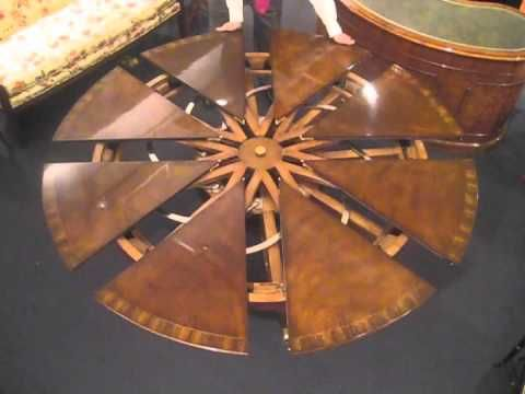 Expanding Dining Table. The Ingenious Robert Jupe Table Mechanism Enables A Round  Table To Grow Part 69