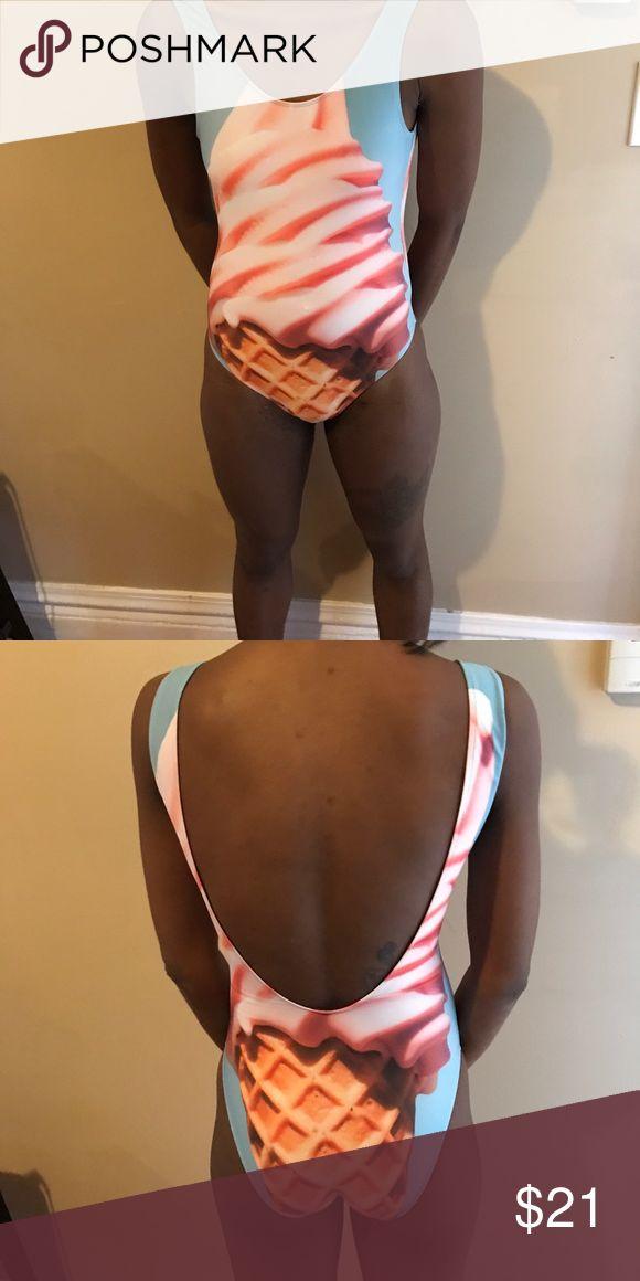 One piece Swimsuit Ice cream 🍦 One Piece Swimsuit. Brand New. H&M Swim Bikinis