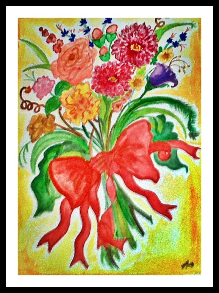 Flower Power (watercolor) - 1998