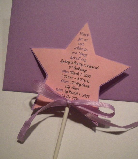 Invite ideas for fairy princess birthday party ideas for Birthday wand