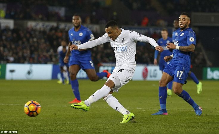 Martin Olsson piled yet more misery on Leicester when he finished off a wonderful team move to score Swansea's second