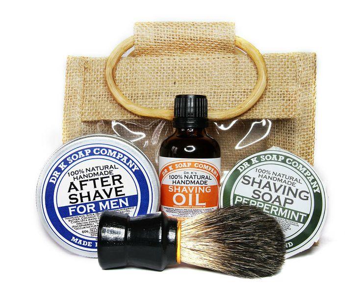 Deluxe Shaving Set For Men Shaving Kit For Him by drksoapcompany, €32.95