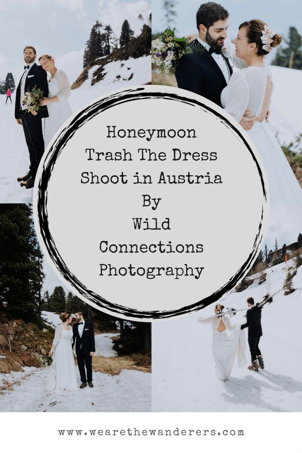 Honeymoon shoot in Austria Pinterest Graphic by We Are The Wanderers