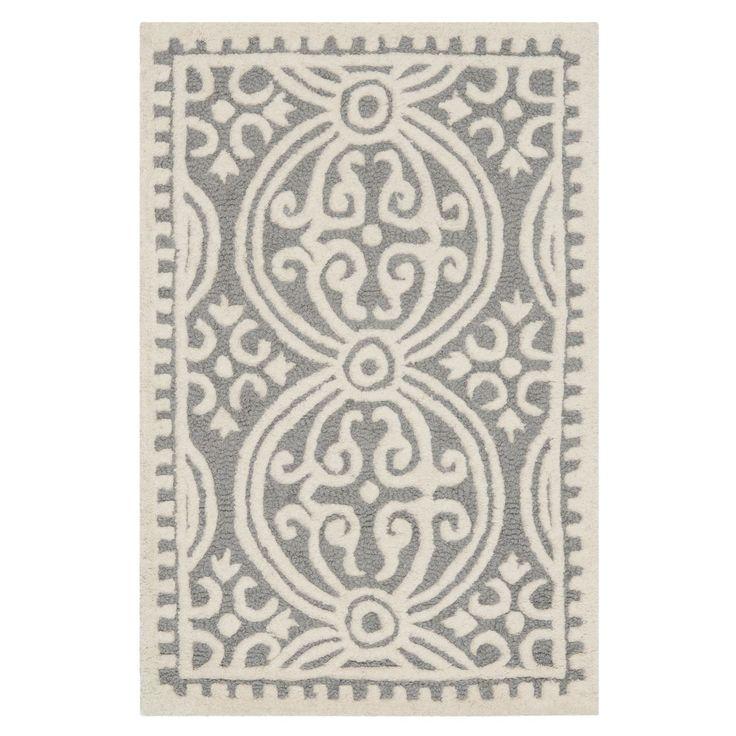 Teppich Marina - Grau - 91 x 152 cm, Safavieh Jetzt bestellen unter: https://moebel.ladendirekt.de/heimtextilien/teppiche/sonstige-teppiche/?uid=af1dc01c-fc91-5561-be77-82cfa2d07206&utm_source=pinterest&utm_medium=pin&utm_campaign=boards #accessoires #bettumr #ungen #heimtextilien #läufer #sonstigeteppiche #teppiche #safavieh