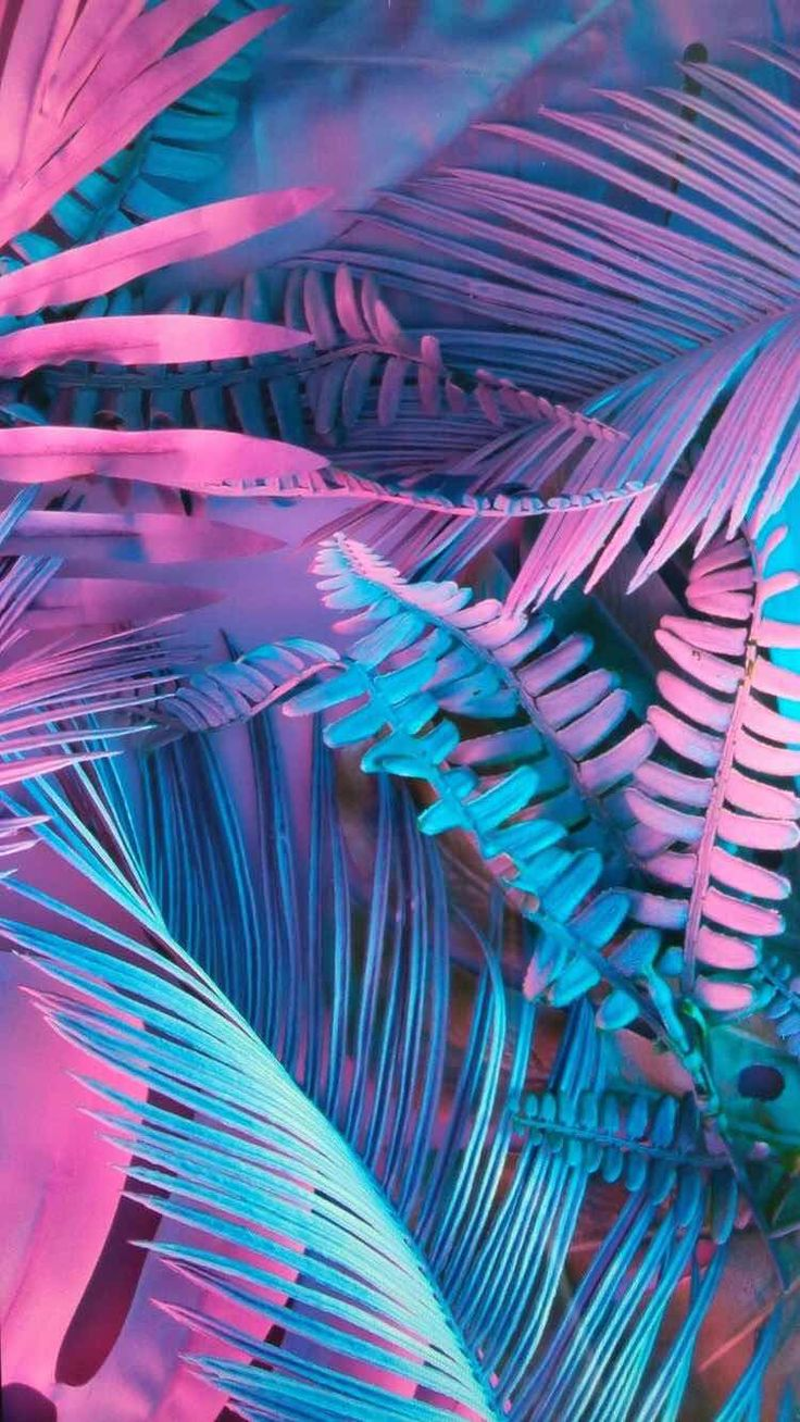 iPhone and Android Wallpapers Pastel Leaf Wallpaper for