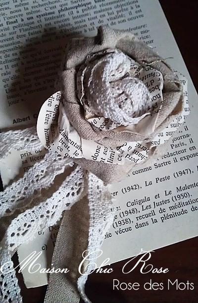 La Maison de Chic Rose: tutorial rosa profumaambienti di carta e stoffa