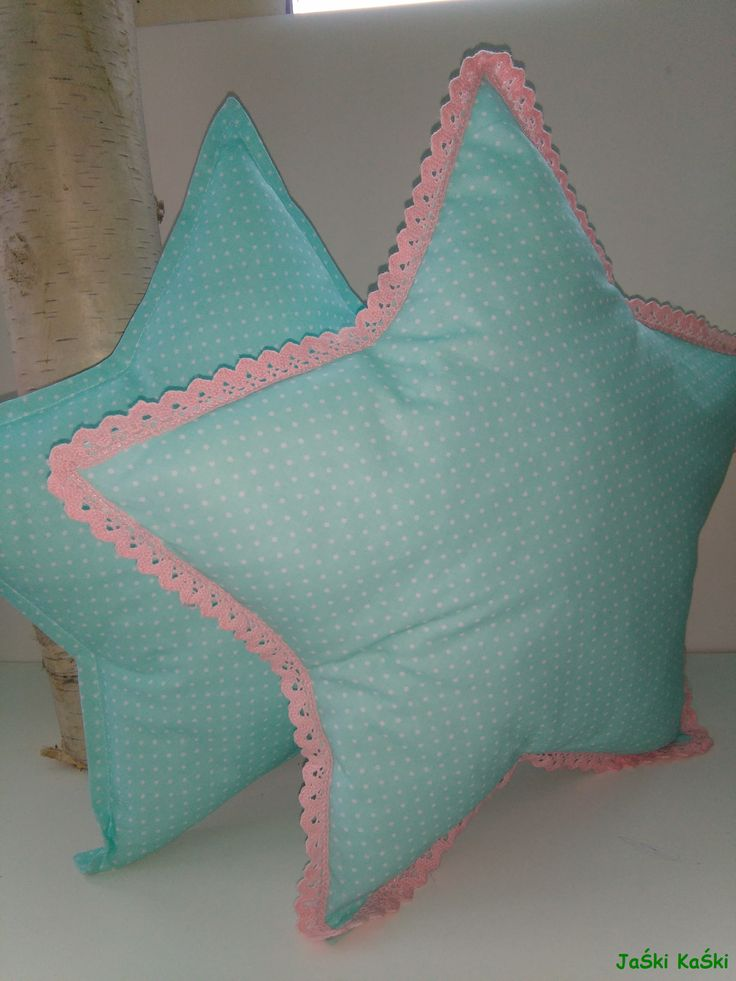 decorative pillow star handmade