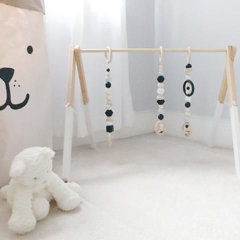 Deluxe Modern Wooden Play Gym