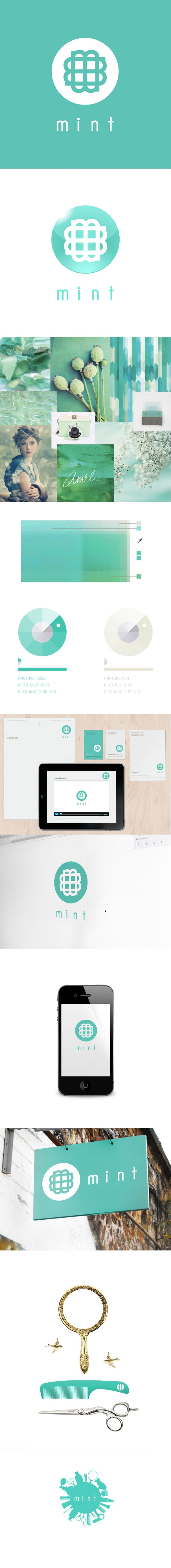 Mint Salon Design | #stationary #corporate #design #corporatedesign #logo #identity #branding #marketing <<< repinned by an #advertising agency from #Hamburg / #Germany - www.BlickeDeeler.de | Follow us on www.facebook.com/BlickeDeeler