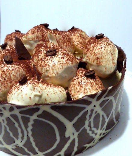 Il pennello di cioccolato: Profiteroles tiramisù