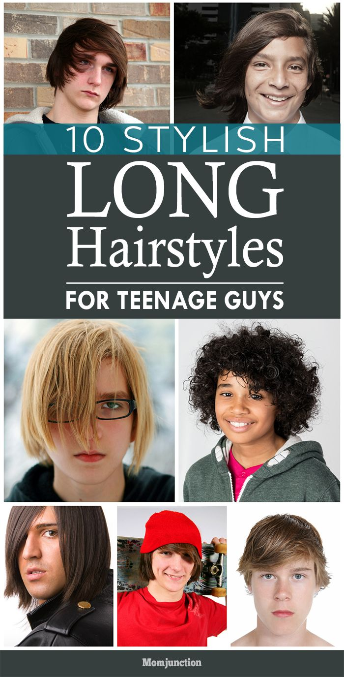 10 Stylish Long #Hairstyles For Teenage Guys: Here are ten long length hairstyles that your teen boy can play around with to sport a different look