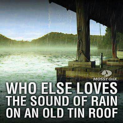 Sound of rain on a old tin roof. ..love it
