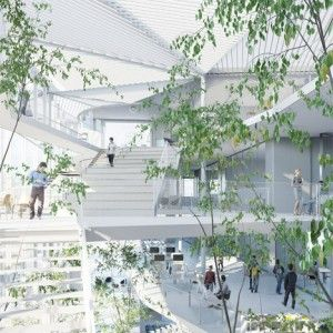 Sou+Fujimoto+envisions+trees+and+balconies++for+Université+Paris-Saclay+building
