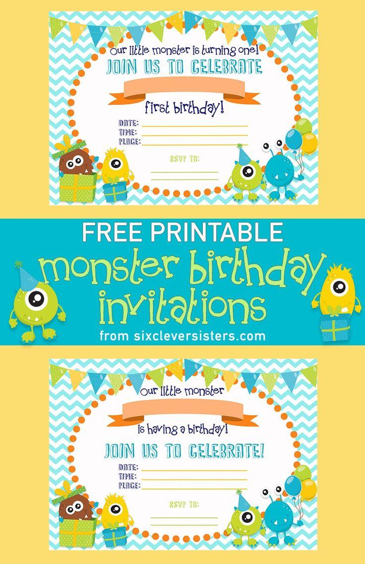 Top 25+ best Monster birthday invitations ideas on Pinterest ...