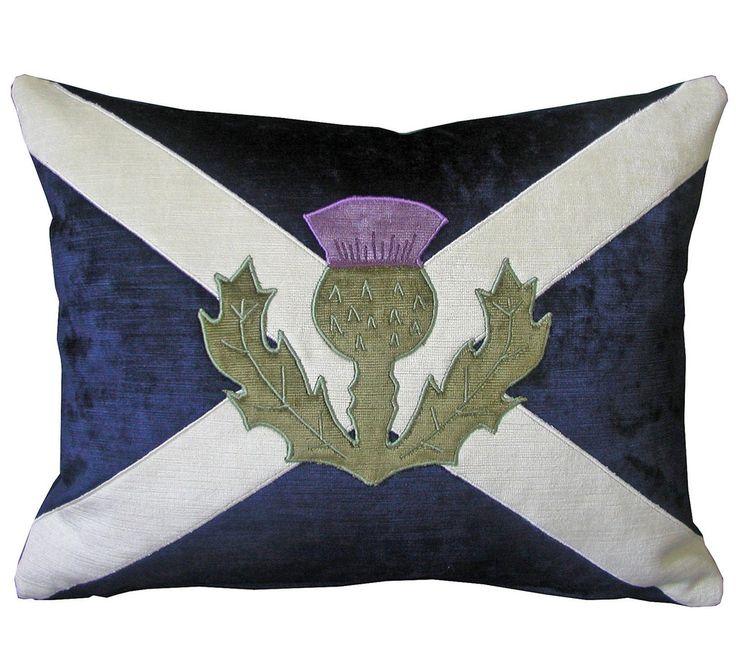Scottish Saltire Velvet Cushion