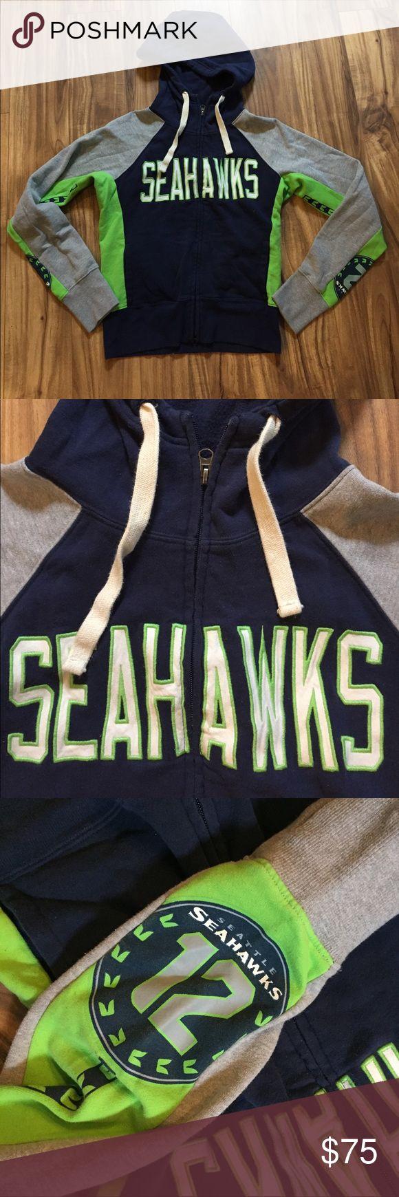 Seahawks zip up hoodie Seattle Seahawks sweatshirt bought in the stadium pro shop Tops Sweatshirts & Hoodies