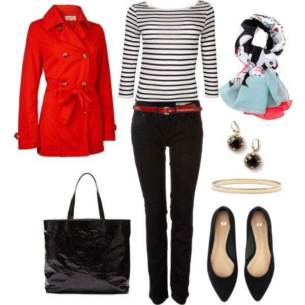 DVF Scarf and Stripes, created by bluehydrangea.polyvore.com
