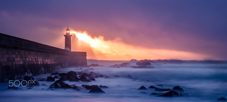 lighthouse - seascape, porto, portugal