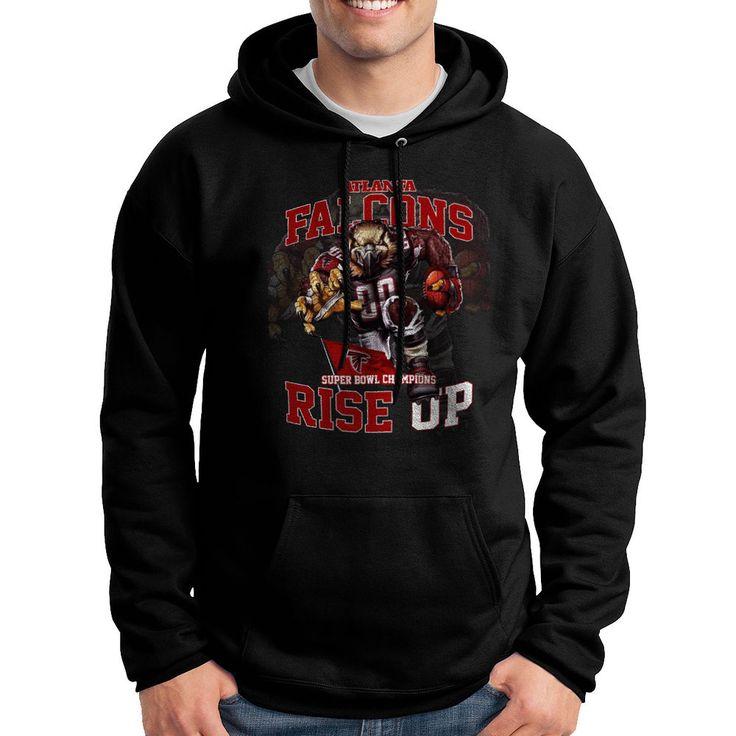 Atlanta Falcons Super Bowl Champions RISE UP Masco Pullover Hoodie for Mens #Hanes #Hoodie