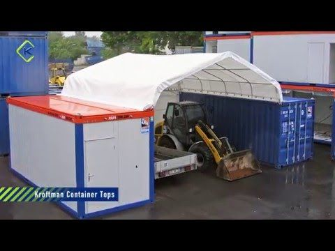Create storage or workspace between two containers. Container shelters in different sizes. Front and back wall are optional. Container shelter 20x20ft £800.
