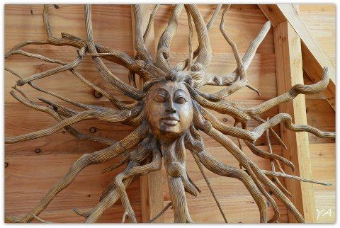 drift wood...so beautiful!...Why didn't I think of that ?!