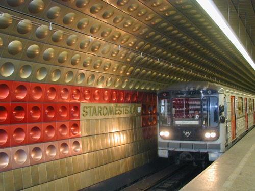 Prague Metro - it reminds me of Daleks!